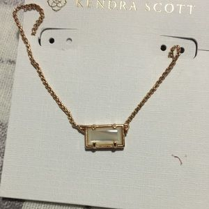 Kendra Scott Pattie Iridescent Rose Gold Necklace